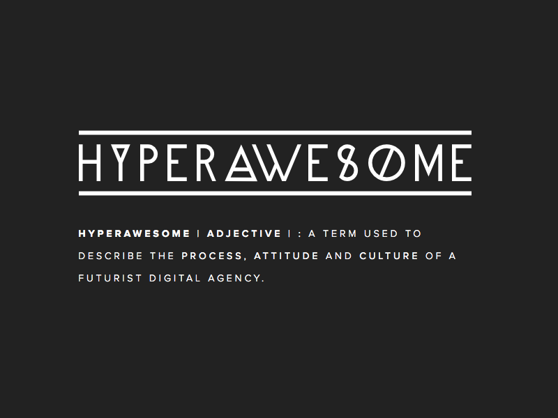 Hyperawesome hyperawesome logo logotype definition proxima nova alpine