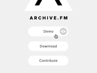 Archive.fm circle proxima nova site page promo promotional archive