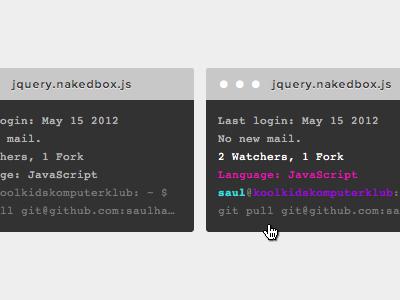 Github Feed html css terminal code snippet github feed