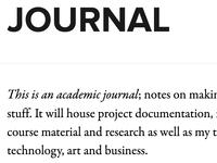 Journal blog journal jekyll proxima nova adobe garamond premier pro