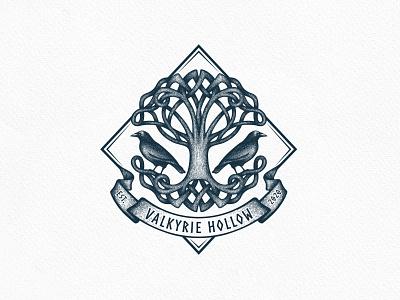 Celtic Tree of Life Logo birds celtic tree of life tree branding vector nature logo hand drawing graphic design design