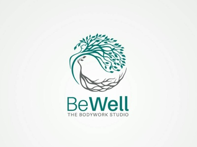 Wellness Tree Logo lineart rooted girl woman beauty tree branding vector nature logo graphic design design