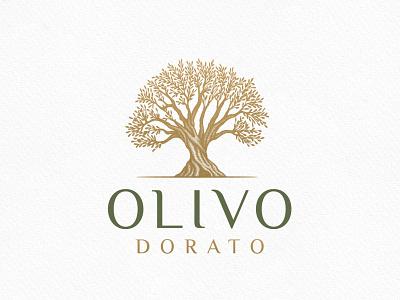Olive Tree Logo olivetree olive tree hand drawing branding vector nature logo graphic design design