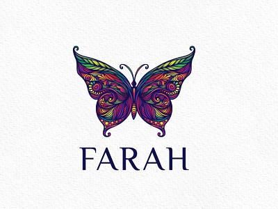 Colorful Butterfly Logo branding brand natural modern colorful butterfly vector nature logo graphic design design