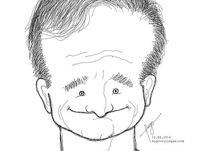 Robin Williams (R.I.P.) illustration robin williams bw art work