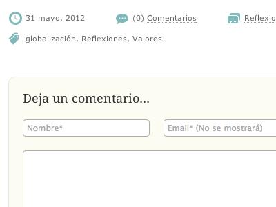 Comments blog web comments form tags