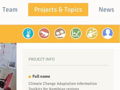 IECN Project page website web