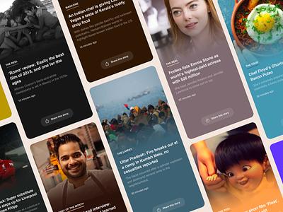 Headlines   Swipe for your news fix app design dribbble list ux ui cards swipecards swipe headlines news app news