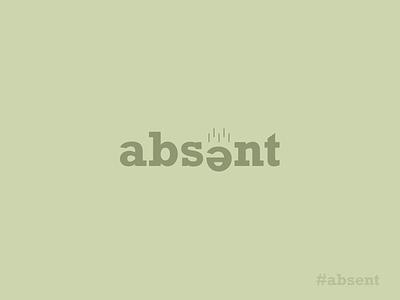 absent | not present somewhere design dribbble colors ux logo typogaphy lettering letter logo