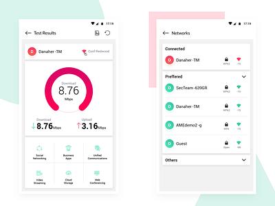 Wifi Test Results network dashboard wifi mobile sketchapp ux