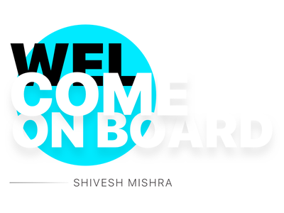 Welcome Shivesh giveaway welcome onboard dribbble invites