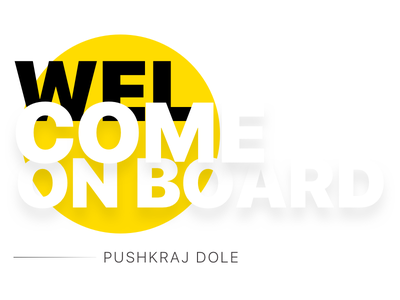 Welcome Pushkraj giveaway welcome onboard dribbble invites