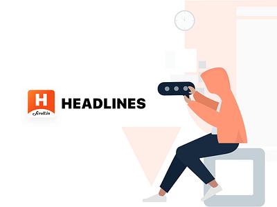 Headlines Logo readers news app news headlines