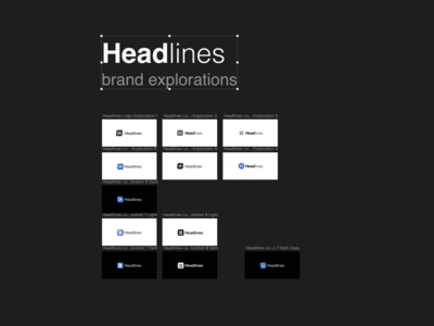 Headlines Brand Exploration