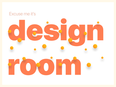 Design Room gradients colors typogaphy poster design
