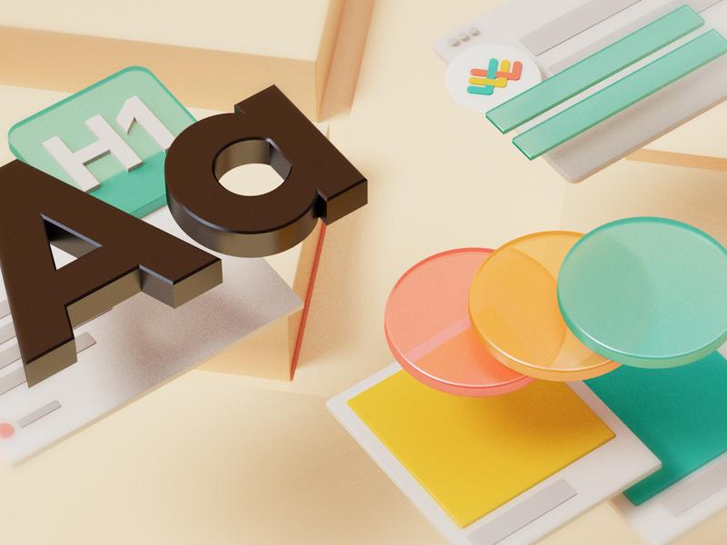 Design Team Cover illustrator 3d