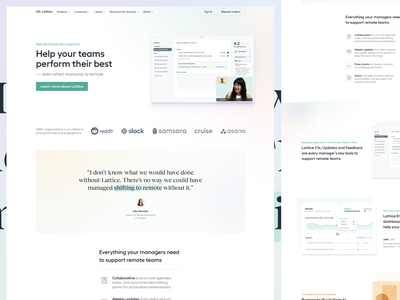 🌈 Remote People Management 🌍 glow landing page