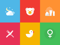 Icons for health application