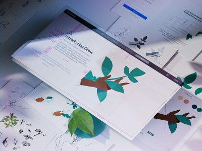 🌱 Grow Illustrations Guidelines 📐 lattice illustrations tag brand 3d illustration 3d art
