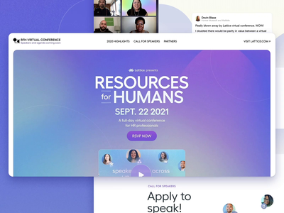 🎪 RfH Virtual Conference internets landing page conference