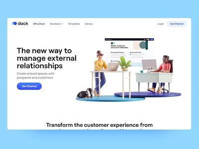 Meet Dock 💙 logo icons brand design illustration 3d motion graphics branding landing page