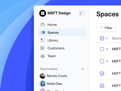 ⚪️🔵 Dock sidebar navigation app menu component interface ux ui icons navigation product