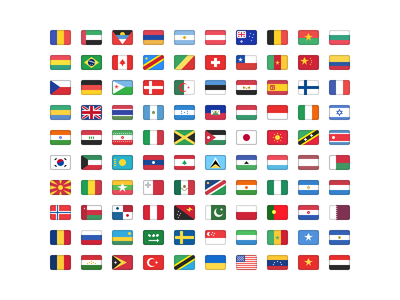 Flag Set for Sketch free sketch flags icons svg