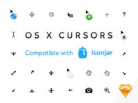 Iconjar & Sketch Vector Mac OS X Cursors