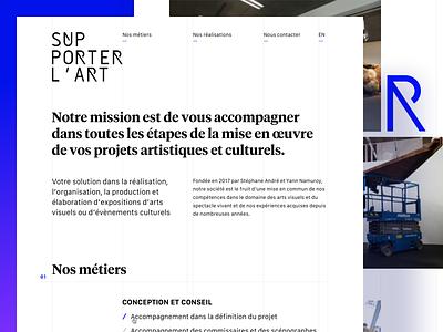 👩🏽🎨🇫🇷 Supporter l'Art 👨🏿🎨🌍 art minimalist landing page