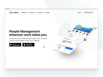 📱Lattice Mobile Apps Page webflow mobile landingpage