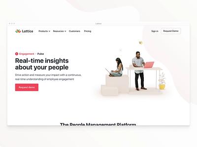 Lattice Pulse ✨ motion 3d website branding