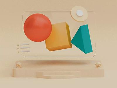 Virtual Conference Rooms 🎥 render design scene illustration 3d