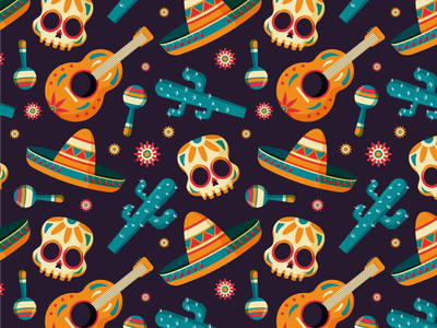 Dia de muertos background pattern holiday mexico skeleton dia de los muertos dia de muertos day of the dead halloween