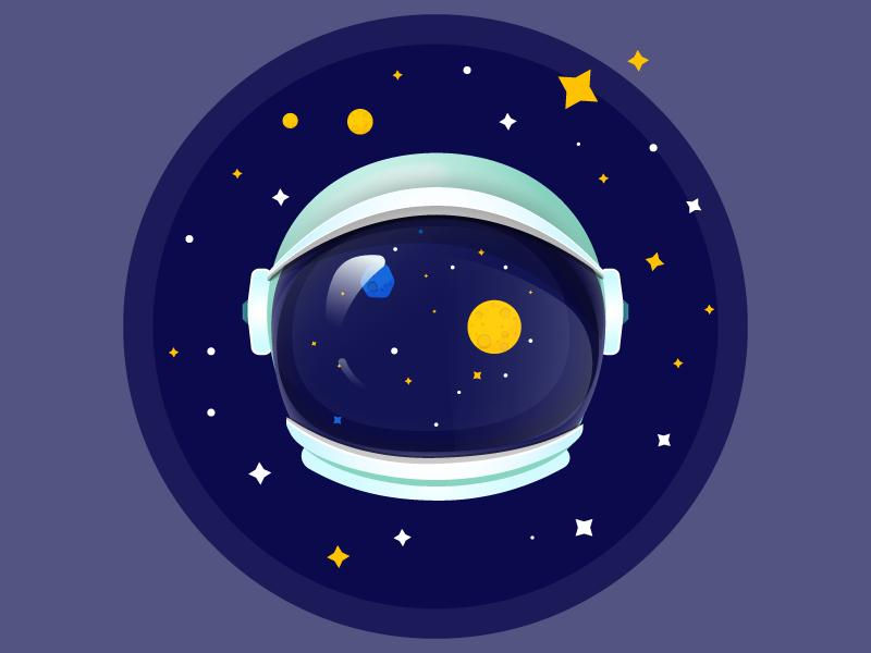 Astronaut Helmet by Mariam Sulaqvelidze on Dribbble