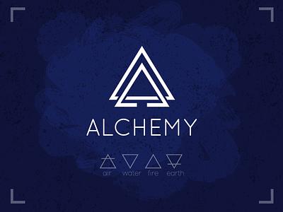 Logo Alchemy mystic element earth fire water air loft logo alchemy
