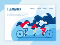 Teamwork for landing page
