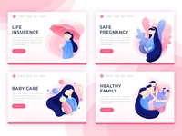 Illustrations for landing page