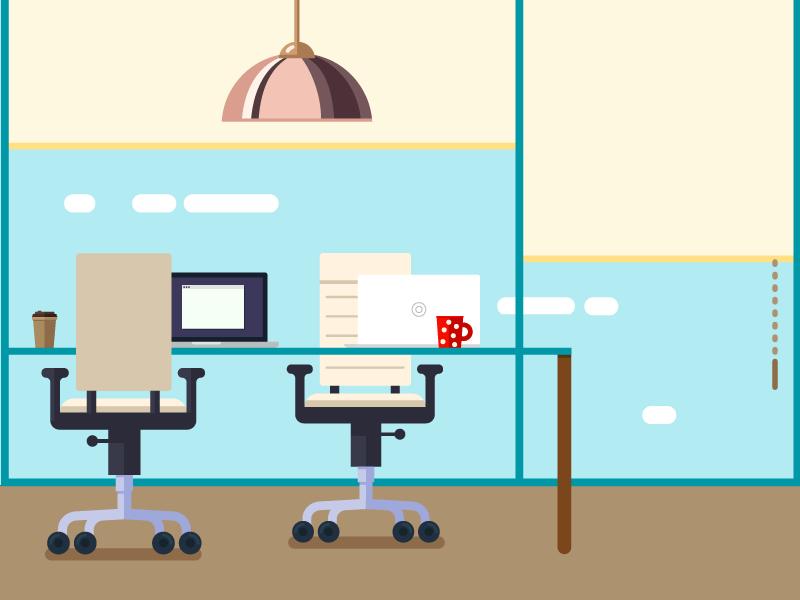 Office meeting laptop desk work coffee flat office workspace