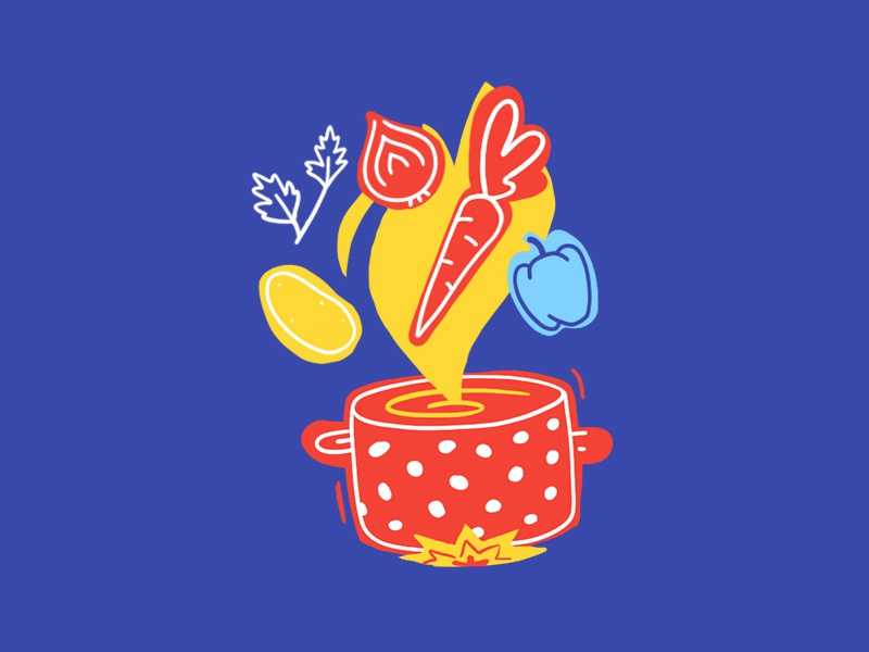 Food illustration 2d vegetables recipe cooking vegetarian soup food food illustration illustration