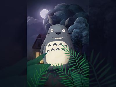 Totoro Illustration character japan japanese animation 80s huion art studio ghibli totoro illustration