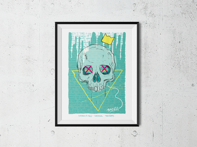 Notorious B.I.G. Tribute skull big notorious illustration poster biggie