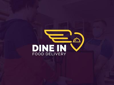Dine in Food Delivery logo design 3d logo vector branding icon design graphic design logo design modern minimalist dine in logo deliver logo food logo