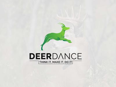Deer Dance Logo Design quality conceptual custom professional unique logo vector branding icon design graphic design logo design modern minimalist deer dance deer design deer logo