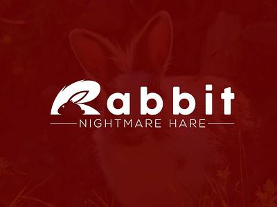 R Logo design incorporated with Rabbit awesome creative unique conceptual professional logo vector branding icon design graphic design logo design modern minimalist r rabbit design r rabbit logo r logo