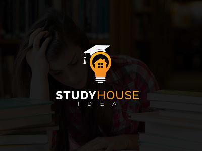 Idea house Logo design logo vector branding icon design graphic design logo design modern minimalist home study logo study logo home logo idea logo