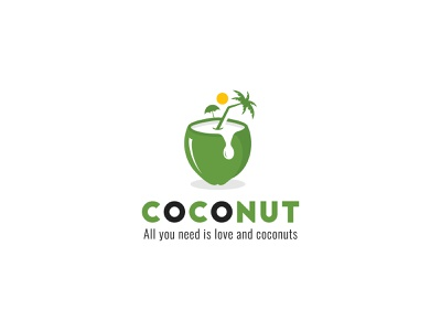 Modern Minimalist Coconut logo unique conceptual professional luxury logo vector branding icon design graphic design logo design modern minimalist coconut design coconut logo