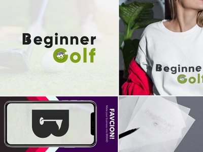 Beginner Gold Minimalist Logo design conceptual creative brand minimalist logo vector branding icon design graphic design logo design modern minimalist beginner golf logo golf logo beginner logo
