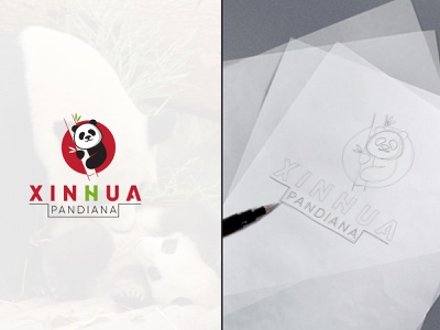 Pandiana Logo design from SCRATCH minimalist quality brand identity unique conceptual clean logo vector branding icon design graphic design logo design modern minimalist padiana food panda panda design panda logo