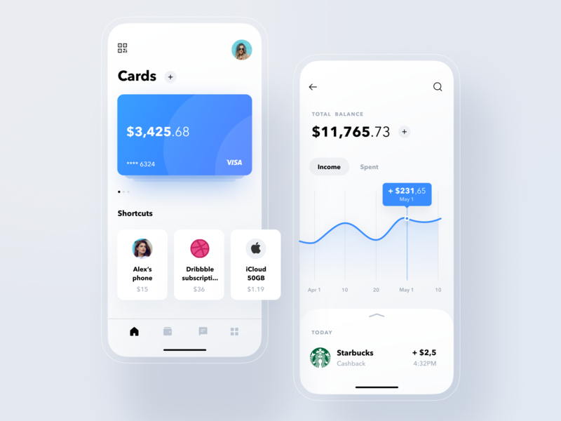 Mobile banking savings spendings payments card income finance banking ux design ui sketch mobileapp iosapp ios mobile iphone app