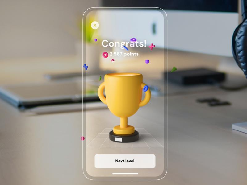 AR Trophy blender 3d ar trophy ux ui mobileapp iosapp ios mobile iphone app